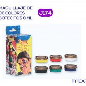 Maquillaje de 6 colores bote de 8 ml.